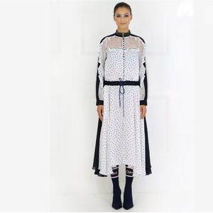 Sacai Chiffon Polka Dot Maxi Dress Size 1 XS